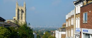 View down Gipsy Hill